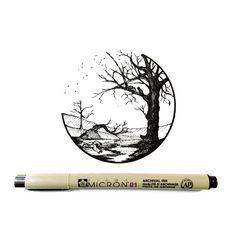September 17 2016 (Day 872) Pen and Ink 3x3 http://ift.tt/2ceBaq7