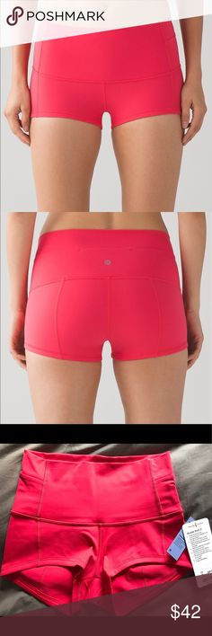 """Lululemon Wunder Short 2"""" NWT Lush Coral 