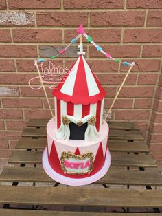 A girly carnival cake.  Jolirose Cake Shop Custom Cakes