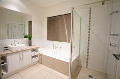 Main bathroom idea - love the storage in the vanity unit