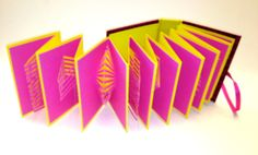 POP UP ACCORDION BOOk w/Hard Cover Original Hand Cut by BoldFolds, $130.00