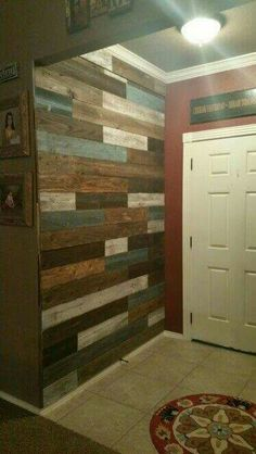 Use the old fencing for the bathroom walls?!