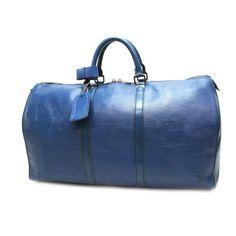 Louis Vuitton Keepall 50 Epi Handle bags Blue Leather M42965