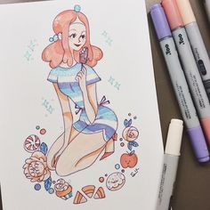 Here's a quick Princess Bubblegum enjoying the hot weather ☀️ #AdventureTime #PrincessBubblegum
