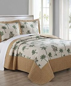 Hawaiian Bedding Sets List! Discover the most beautiful Hawaii bedding including comforters, quilts, duvet covers, sheets, and more.