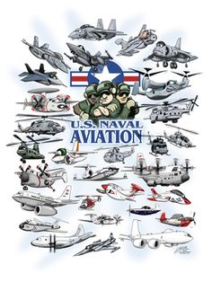 "18"" x 24"" Naval Aviation Cartoon Print"