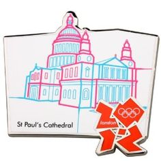 Price: $11.00 - Official London 2012 Olympic Pin Badge - St Paul's Cathedral - TO ORDER, CLICK THE PHOTO