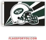 NEW YORK JETS HELMET DESIGN 3X5 FLAG - 1 left