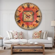 Designart 'Moroccan Orange Tiles Collage II' Bohemian Chic Large Wall Clock 38 in. Wide x 38 in. Red Tulips, Red Poppies, Home Decor Trends, Shabby Chic Furniture, Home Decor Outlet, Flower Wall, Decorative Accessories, Modern Decor, Design Art