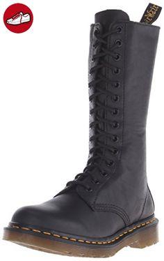 Dr. Martens 1B99 Virginia BLACK, Damen Bootsschuhe, Schwarz (Black), 42