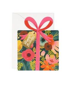 Carte double Happy Birthday Riffle Paper vintage GCB023