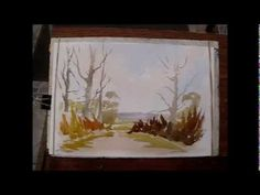loose watercolors  The  Wesson way  very interesting form of painting.  Look up Ted Wesson to see some of his work
