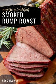 This Smoked Rump Roast is classic Sunday roast with a smoky twist. It's infused with garlic cloves and seasoned with my amazing Beef Seasoning, making it a roast that is just as good for a weekend dinner as it is for a holiday feast.