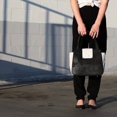 Jamah | The Christine | Colorblock perfection | #blackandwhite #purse #handbag #fashion #style