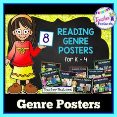 8 Reading Genres for K-4 -Picture Books -Realistic Fiction -Historical Fiction -Fantasy -Informational (Non-fiction) -Poetry -Traditional Literature   Folktales   Fairy Tales   Fables   Legends   Myths -Biography
