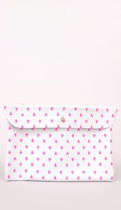 Pink Triangle Clutch #fashion #FashionCherry