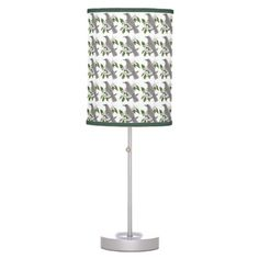 Florida State Bird and Flower Table Lamp