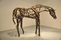 Deborah Butterfield at Zolla/Lieberman Gallery- could do a project related to Melissa Miller? Either sculpture week or mixed media week.