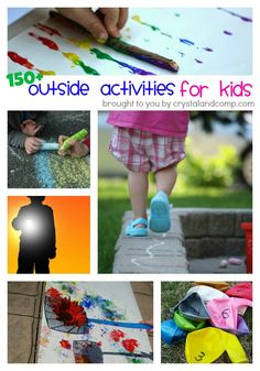 150 Simple Outside Activities for Kids Outside Activities For Kids, Summer Activities, Family Activities, Learning Activities, Preschool Activities, Kids Learning, Outdoor Learning, Outdoor Play, Toddler Fun