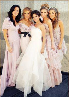 Chic Blush Pink Bridesmaid Dresses #Wedding