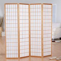 Jakun Honey Shoji 4 Panel Room Divider - 85066
