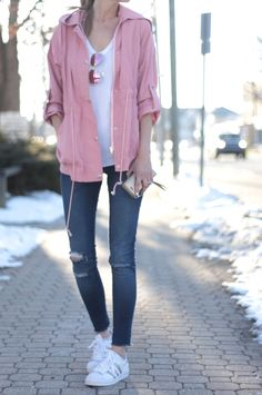 Spring outfits for ideas and scholl and korean. Spring Fashion spring outfit: pink utility jacket Source by Spring Fashion Outfits, Pink Outfits, Mode Outfits, Look Fashion, Casual Outfits, Summer Outfits, Fall Fashion, Classy Fashion, Fashion Black