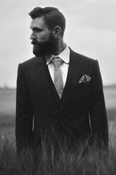 pomp. beard. suit. sharp.