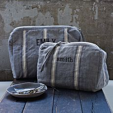Chambray Stripe Cosmetic Bag (minus the monogram)