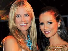 Heidi Klum at Marchesa's Georgina Chapman at Chopard and The Weinstein Company's Golden Globes after-party at The Beverly Hilton.