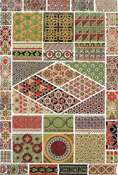 'Byzantine' design from 'The Grammar of Ornament' by Owen Jones, published in 1856.
