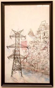 https://flic.kr/p/GrzQ82   Art & Design 2016 Annual Student Exhibition   Carly Christensen, Dependency, Watercolor pencil, archival ink, toner, thread, 2016