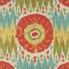 This fabric has a great tribal feel to it, fun way to add this trend to your home