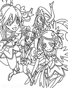 glitter force doki doki coloring pages 266 Best Cure Coloring images | The Cure, Coloring, Magical girl glitter force doki doki coloring pages