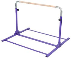 Jr. Kip Bar : Our Jr. Kip Bar is a gymnastics training bar for kids just beginning their athletic career. A perfect kip bar for home use, it features a 1-½ inch diameter solid beech wood bar and offers a good amount of stability for beginner to intermediate level skills.With optional stabilizers kids can easily perform skills like kips and back hip circles on the Jr. Kip Bar. The kip bar's base can be even further stabilized with a 4ft x 8ft piece of plywood for more advanced skills.