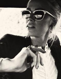 Amber Heard Retro Chic Style