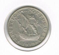 PORTUGAL COIN 5 ESCUDOS 1979 - XF - KM#591 - SHIP - COPPER-NICKEL