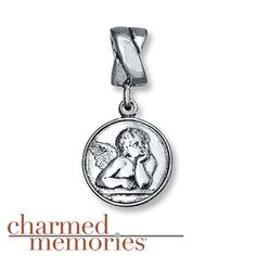 Charmed Memories Guardian Angel Charm Sterling Silver