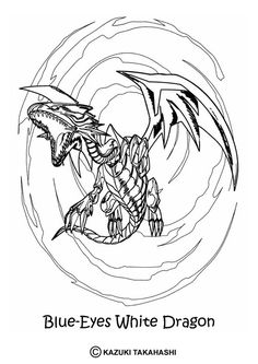 here a yu gi oh coloring page with this white dragon coloring sheet - Yugioh Coloring Pages