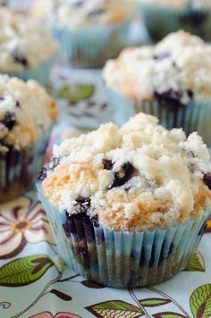"""My Favorite Blueberry Muffins My Favourite Blueberry Muffins. """"This is THE blueberry muffin recipe I've been searching for all my life. It's the perfect consistency, the perfect streusel topping, the perfect bite every time. Best Blueberry Muffins, Blueberry Recipes, Blue Berry Muffins, Blueberries Muffins, Blueberry Muffin Recipe No Milk, Blueberry Cream Cheese Muffins, Blueberry Tea, Yummy Treats, Delicious Desserts"""