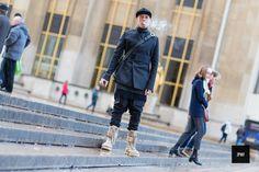 Street style - By jaiperdumavestea-JPMV -Nabile Quenum. // Alex Kasavin in Paris during men fashion week Fall Winter 2014.
