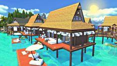 The Sims 4 - BORA BORA RESORT  Giveaway | Speed Build