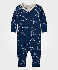 Bobo Choses Constellation Knitted One-Piece Black Iris