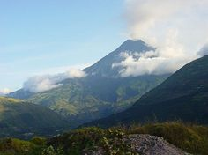 The Tungurahua volcano, just outside of Banos, Ecuador.  (Can't wait to visit someday)