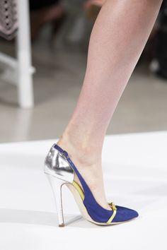 blue slingback // Oscar de la Renta spring 2014. #shoes #bags #accessories