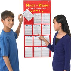 Book Report Alternative! This would be a great pocket chart to have in the class library.  Let students recommend books to one another!