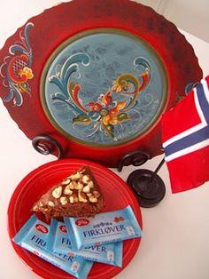 Firklover kake and rosemalin