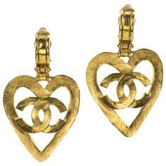 Heart CC Earrings  Chanel  Catchys