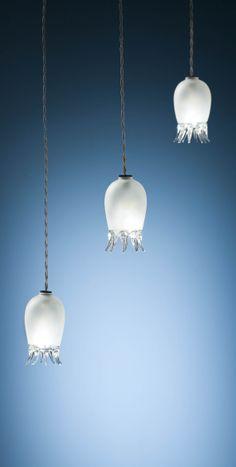 Handmade Blown Glass Lighting Fixture. Made In Italy. Design Pepe