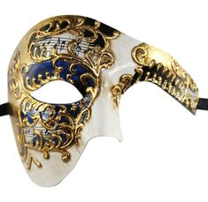 Ships within 1 business day! U.S. customers will receive their orders within 5 business days. Priority & Express shipping options are available.  Carefully designed and colored. Decorated with additional glitter for a glamorous look. Worn with silk ribbons attached to sides of the mask. Two tone coating. Product Description>>>>>>>>>>>>>>> Made with high quality eco-friendly (recyclable) poly resin. Mask measures approximately 8W x 8*H. Perfect ...