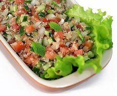 PANELATERAPIA - Blog de Culinária, Gastronomia e Receitas: Tabule Veggie Recipes, Salad Recipes, Vegetarian Recipes, Healthy Recipes, Comida Armenia, Easy Cooking, Cooking Recipes, Exotic Food, Healthy Salads